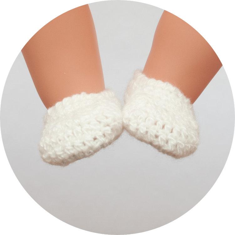 Вязание тапочек для куклы 649